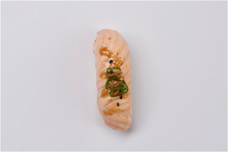 Foto Flamed salmon nigiri