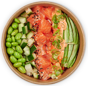 Foto Poke Bowl Spicy Salmon